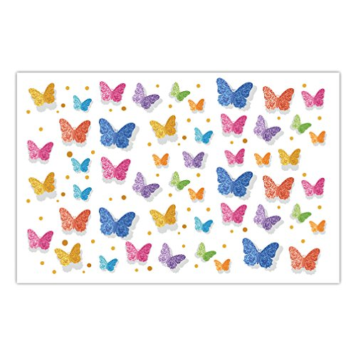 DB Party Studio Paper Place Mats 25 Pack Pretty Butterflies Design Indoor Outdoor Girl Birthday Engagement Grad Parties Baby Shower Disposable Quick Cleanup Table Setting Decor 17