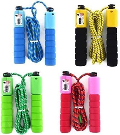 Fitness Adjustable Adult Kids Counting Jump Skipping Rope With Counter Indoor UK