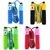 PINK COLOUR Adjustable Skipping Rope With Counter Fitness Boxing Jump Exercise For Adult Kid