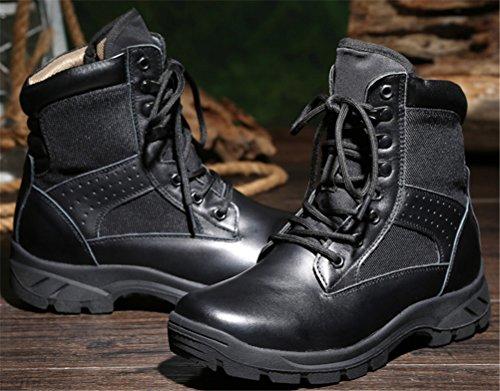 Botas Tácticas Hombre Invierno, Forrado En Algodón Botas Militares Bota Media Con Cordones Army Botaie Negro Talla 6-9