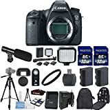Canon EOS 6D 20.2MP Full Frame DSLR Camera Body Only with 2pc Commander 32GB Memory Cards + LED Light + Extra Battery + Card Reader + UV Filter + Backpack Case + Tripod (14 Items)