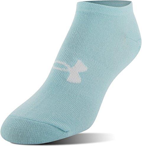ba7a3dcb5 ... Under Armour Women's Essential No Show Socks (6 Pack), Color/Assorted,  ...
