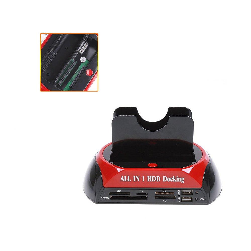 2.5/3.5/USB Cable Docking Station principal de e-SATA KKmoon 2-station de acoplamiento SATA//IDE HDD