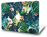 KEC MacBook Air 13 Inch Case Plastic Hard Shell Cover A1369 / A1466 (Palm Leaves Lilies)