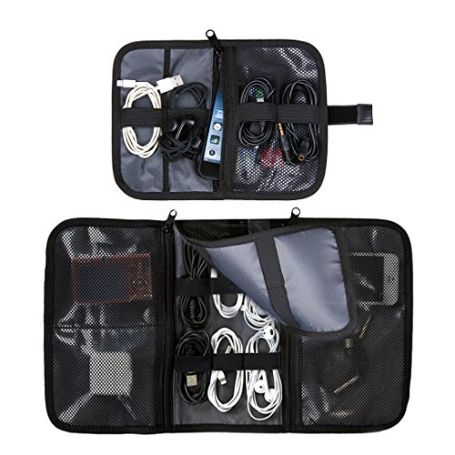 Bagsmart 2 In 1 Travel Usb Cable Organizer Storage Bag