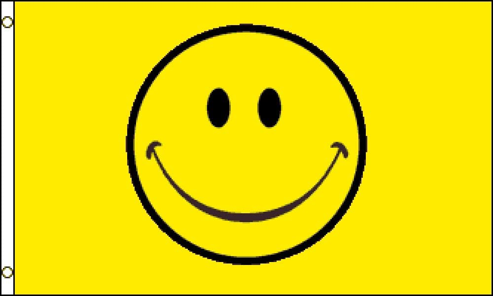 Happy Face (Yellow) Flag 3x5ft Poly