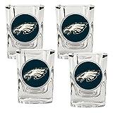 NFL Philadelphia Eagles Four Piece Square Shot Glass Set