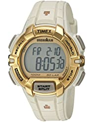 Timex Unisex TW5M06200 Ironman Rugged 30 Full-Size White/Gold-Tone Resin Strap Watch