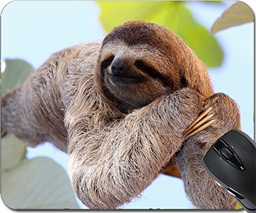 MSD Natural Rubber Mousepad Mouse Pads/Mat design 35577251 Happy Sloth
