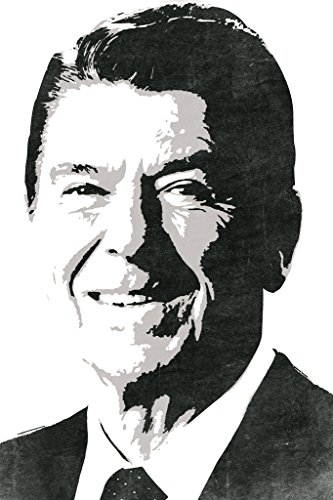 President Ronald Reagan Pop Art Portrait Republican Politics Politician POTUS White Poster 12x18