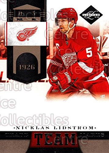 (CI) Nicklas Lidstrom Hockey Card 2011-12 Limited Team Trademarks 2 Nicklas Lidstrom