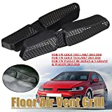 MONNY Pair Car Under Seat Floor Air Duct Vent AC Outlet Protective Cover Grille w/adhesive for VW Golf 7 MK7 Passat B8 EU ES 2013-2018