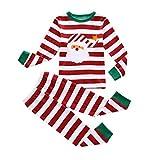BIBNice Boys & Girls Christmas Pajamas Toddler Cotton Sleepwear Children Clothes Sets (3T, Red)