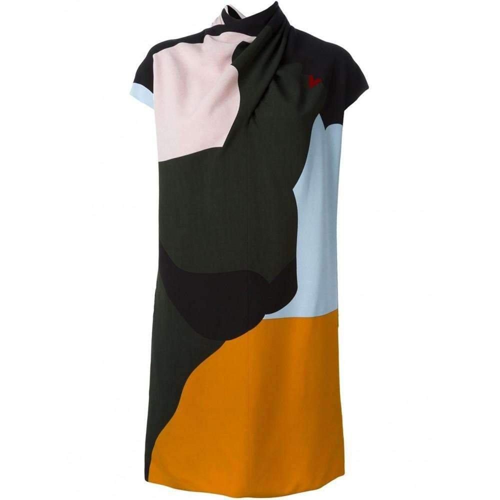 Nina Ricci Multi color Halter Open Back Dress