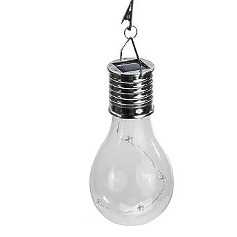 somesun impermeable solar giratorio Jardín Exterior Camping Appeso a LED Lámpara Bombilla Transparente energía hilo de