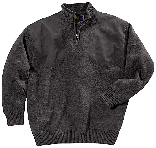 Beretta Men's Wind Barrier Short Zip Sweater, Medium, Gray by Beretta