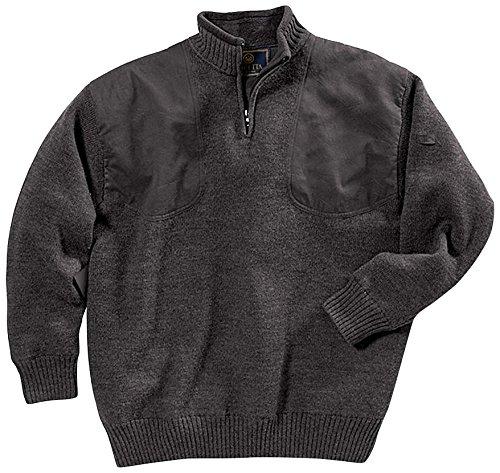 Beretta Men's Wind Barrier Short Zip Sweater, X-Large, Gray (Wool Short Zip Jacket)