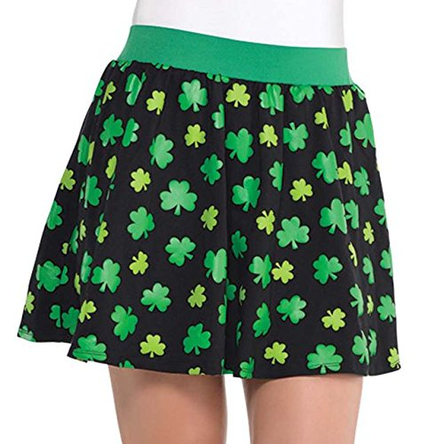 Amscan Lucky Irish St. Patrick's Day Skater Skirt (1 Piece), One Size, Multicolor -
