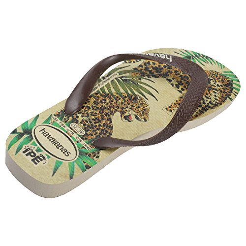 Havaianas Tongs de Plage Beige et Marrons Léopards Ipê Beige Brown