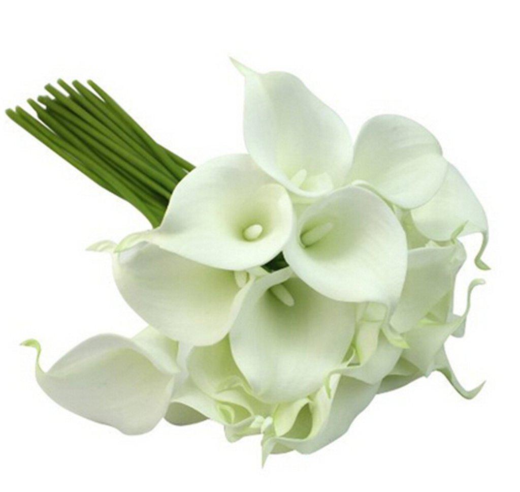 Linkingss calla lily wedding bouquet 10 head latex real touch linkingss calla lily wedding bouquet 10 head latex real touch flower bouquets izmirmasajfo