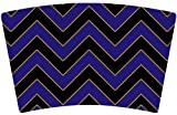 Mugzie® brand Cocktail Shaker with Insulated Wetsuit Cover - Ravens Football Colors Chevron