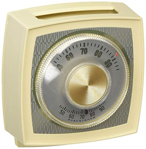 Robertshaw 400-42K Non Programmable Mechanical 24 Volt Thermostat, One Stage Heat and One Stage Cool, Ivory