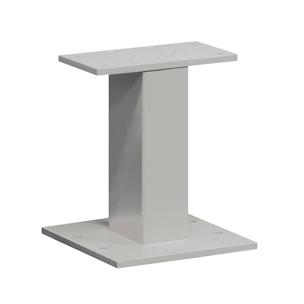 Standard Pedestal, Gray, 16-1/2in H, 15 lb