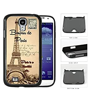 Paris France Bonjour Postcard Hard Plastic Snap On Cell Phone Case Samsung Galaxy S4 SIV I9500 by icecream design