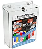 Source One LLC Large Wall Mount Premium Comment Box Clear Acrylic with Sign Holder ( LGWMCOMBOX )
