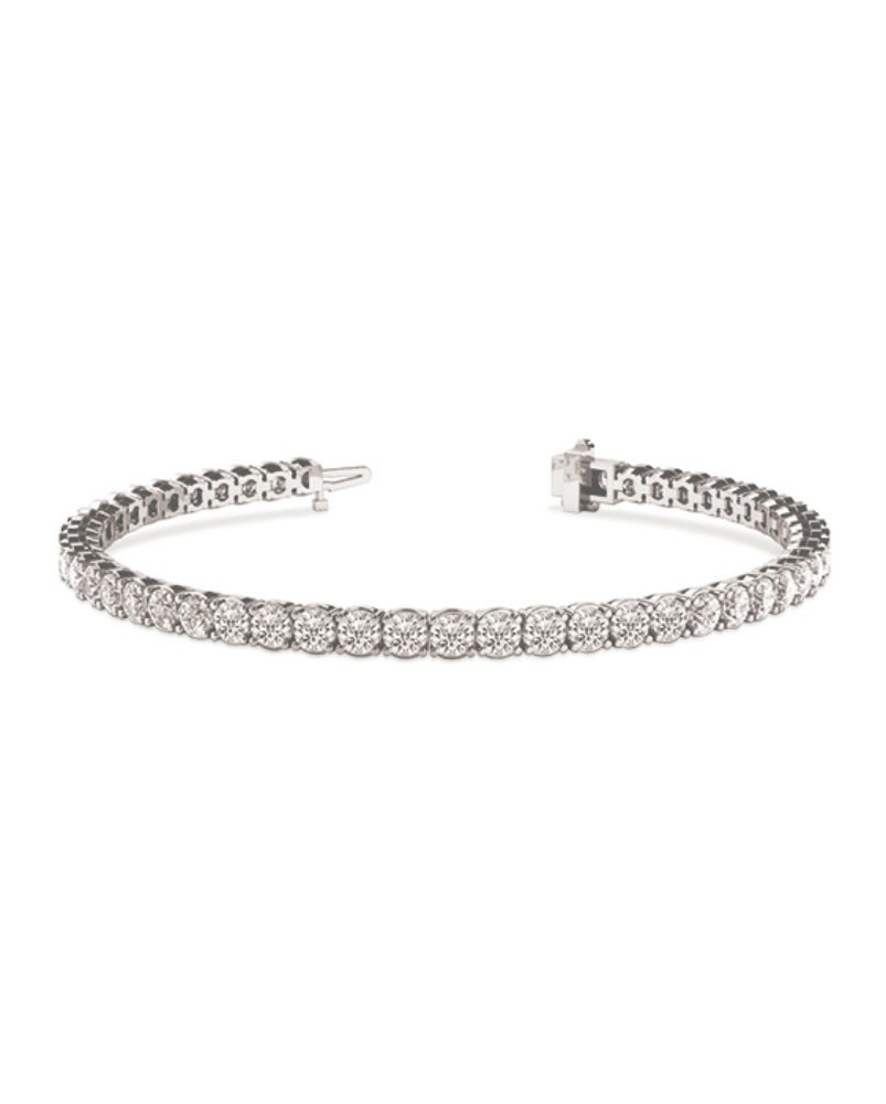 Forever Classic Round 3.3 Moissanite Tennis Bracelet, 6.63cttw DEW by Charles & Colvard by Charles & Colvard