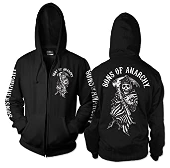 Sons of Anarchy - Sudadera con capucha - para hombre negro negro Medium