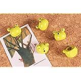 Cute 3D Cartoon Wooden Frog Head Pushpins for Corkboard / Decrorative Thumb Tacks Set of 5 PCS