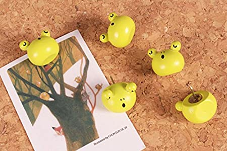 Cute 3D Cartoon Wooden Galesaur Pushpins for Corkboard / Decrorative Thumb Tacks Set of 5 PCS George Bogle