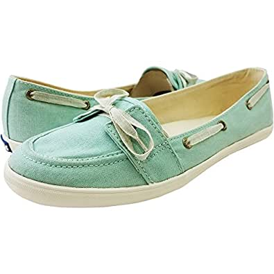 Keds Women's Teacup Boat Seasonal Solid Fashion Slip-On (5 B(M) US, Light Blue)
