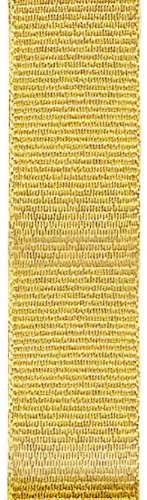 Offray 534106 Metallic Grosgrain Craft Ribbon, 1/8-Inch Wide by 10-Yard Spool, Gold