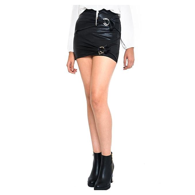 LOB-Falda Corta Negro DFCX0170  Amazon.com.mx  Ropa 0a2b79b2898f