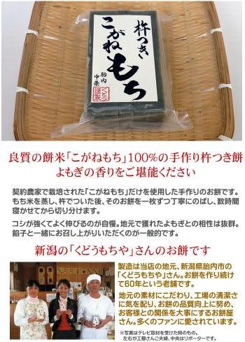 手作り杵つき餅 草餅(10枚入)×10点セット/新潟産「こがねもち」使用、コシが強くてよく伸びるおいしいお餅。無添加・無着色で安心・安全!