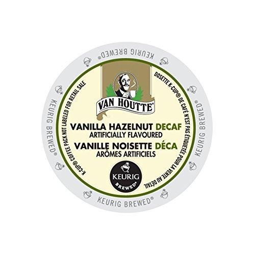(Van Houtte Vanilla Hazelnut Decaffeinated Coffee, 24-Count K-Cups for Keurig Brewers (Pack of)