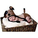 Zeroest Baby Photography Props Newborn Photo Shoot Outfits Crochet Costume Infant Boy Girl Knitted Puppy Hats Shorts