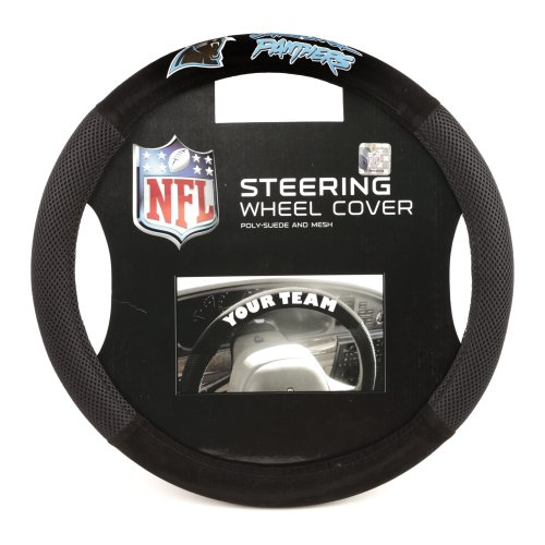 NFL Carolina Panthers Poly-Suede Steering Wheel Cover