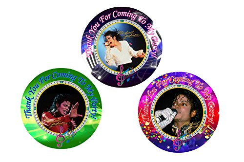 12 Michael Jackson Birthday Party Favor Stickers (Bags Not Included) #1