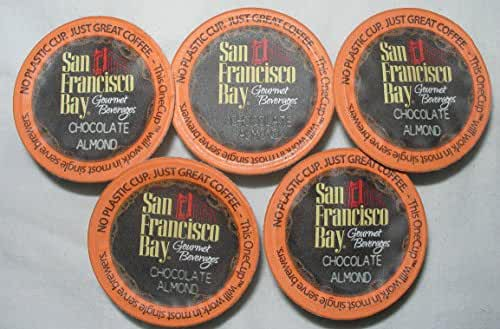 San Francisco Bay Coffee, OneCup, 24 Ct. Chocolate Almond Coffee, Compatible with Keurig K-cup Coffee Brewers,