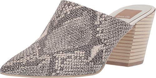 Dolce Vita Women's Angela Point Toe Mules, Snake Print, 7.5 M US