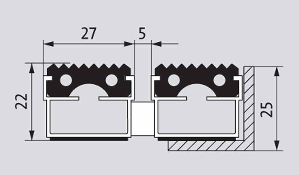 EMCO Eingangsmatte DIPLOMAT 22mm Gummi schwarz ALU Rahmen Fu/ßmatte T/ürmatte Abstreifer Gr/ö/ße:1000 x 500 mm