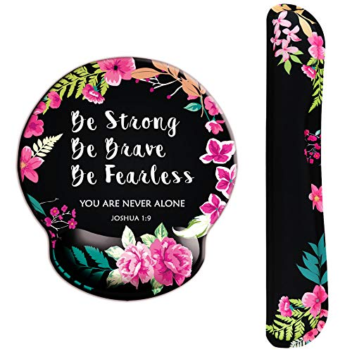 Graduation Bible Verses (Bible Verse Ergonomic Design Mouse Pad with Wrist Rest Hand Support and Keyboard Support. Round Large Mousing Area. Mouse Pad and Keyboard Pad for Laptop, PC Computer & Mac. Great)