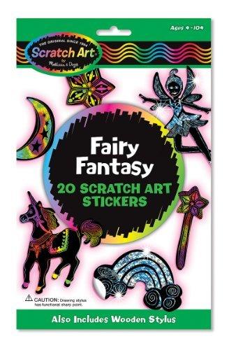 Scratch Art Magic Fairy Fantasy 20 Piece Piece Piece Sticker Kit by Scratch Art B01LVWOTSM | Spielzeugwelt, glücklich und grenzenlos  d2db85