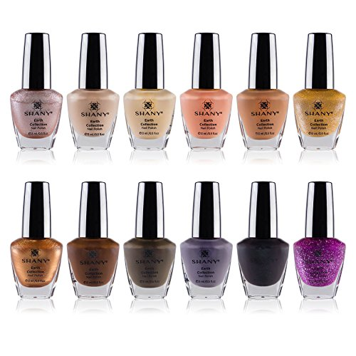 (SHANY Nail Polish Set - 12 Nude and Natural Shades in Gorgeous Semi Glossy and Shimmery Finishes - Earth Collection)