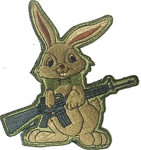Evil Easter Bunny AR-15 Tactical Morale Patch - Multitan (Evil Easter Bunny)