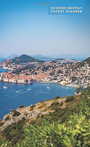 2019-2020 Monthly Pocket Planner: Dubrovnik + Medieval Europe Coastline, Croatia (European Travel Photography)