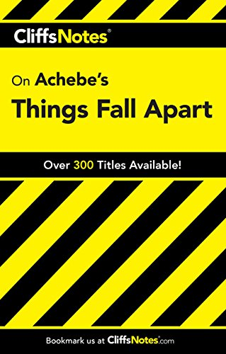 CliffsNotes on Achebe's Things Fall Apart (Dummies Trade) (Cliffsnotes Literature Guides) pdf epub